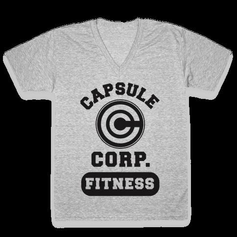 Capsule Corp. Fitness V-Neck Tee Shirt