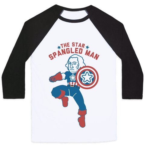 The Star Spangled Man Baseball Tee