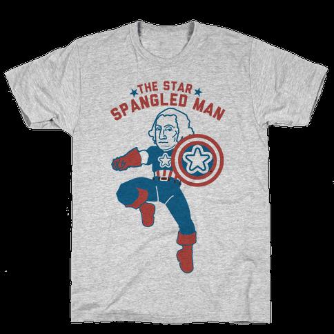 The Star Spangled Man Mens T-Shirt