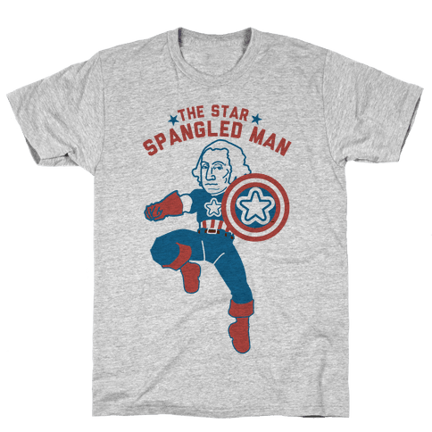 The Star Spangled Man Mens T-Shirt