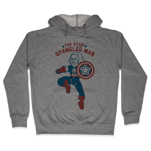 The Star Spangled Man Hooded Sweatshirt