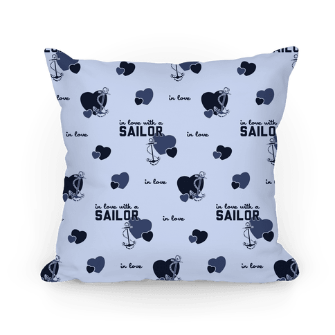 In Love with a Sailor Pillow