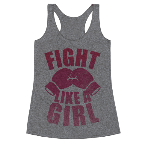 Fight Like A Girl Racerback Tank Top