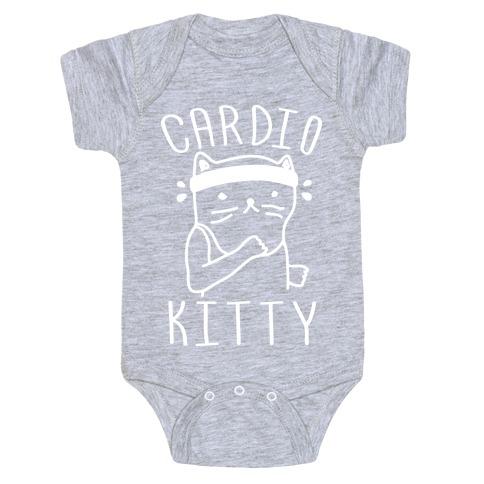 Cardio Kitty Baby Onesy
