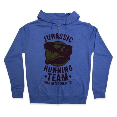 Jurassic Running Team Zip Hoodie