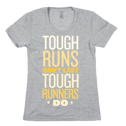Tough Runners (Gold) Womens T-Shirt