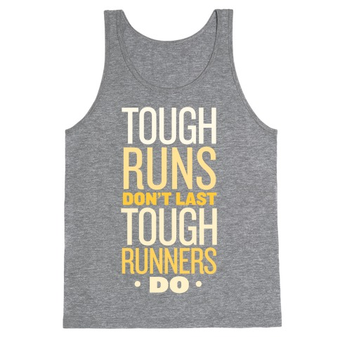 Tough Runners (Gold) Tank Top
