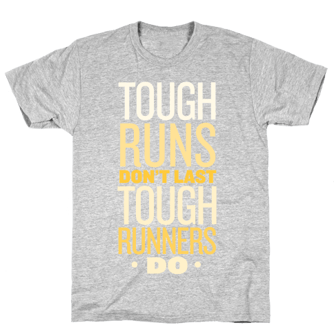 Tough Runners (Gold) Mens T-Shirt