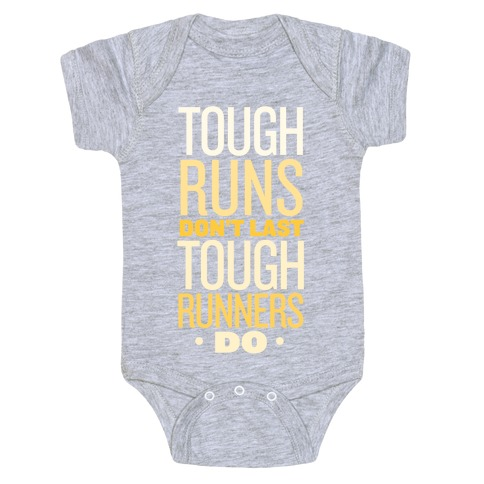 Tough Runners (Gold) Baby Onesy