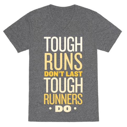 Tough Runners (Gold) V-Neck Tee Shirt
