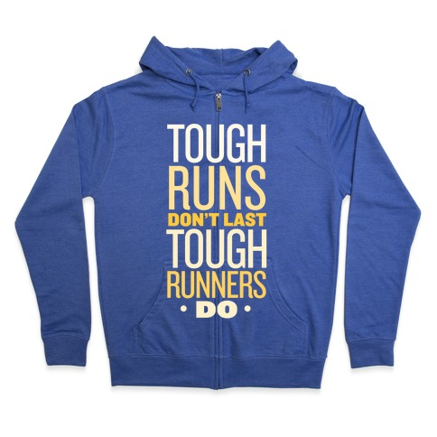Tough Runners (Gold) Zip Hoodie