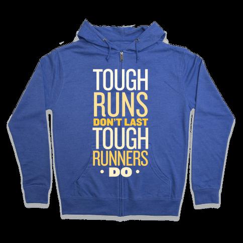 Tough Runners (Gold) Zip Hoodie