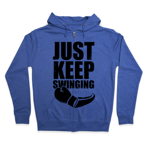 Just Keep Swinging (Vintage) Zip Hoodie