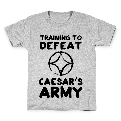 Training to Defeat Caesar's Army Kids T-Shirt