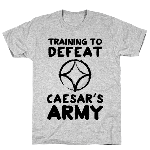 Training to Defeat Caesar's Army Mens T-Shirt