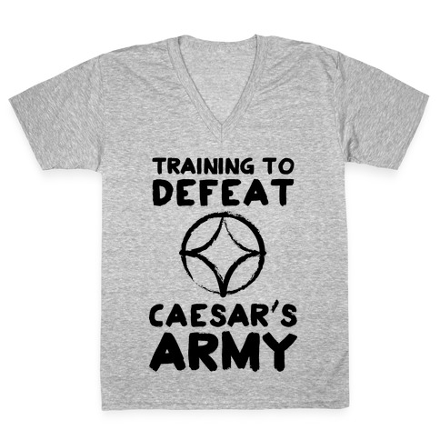 Training to Defeat Caesar's Army V-Neck Tee Shirt