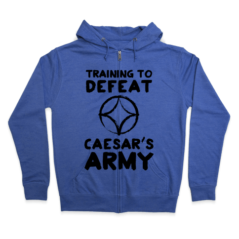 Training to Defeat Caesar's Army Zip Hoodie