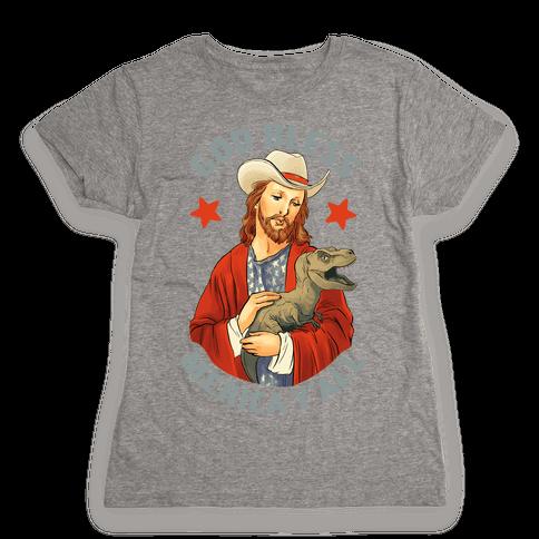 God Bless Merica Y'all Womens T-Shirt