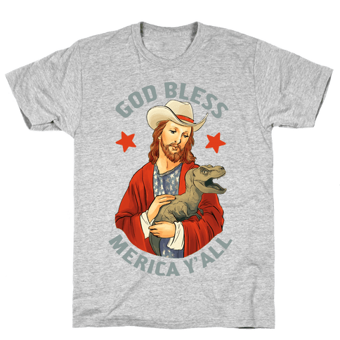God Bless Merica Y'all Mens T-Shirt