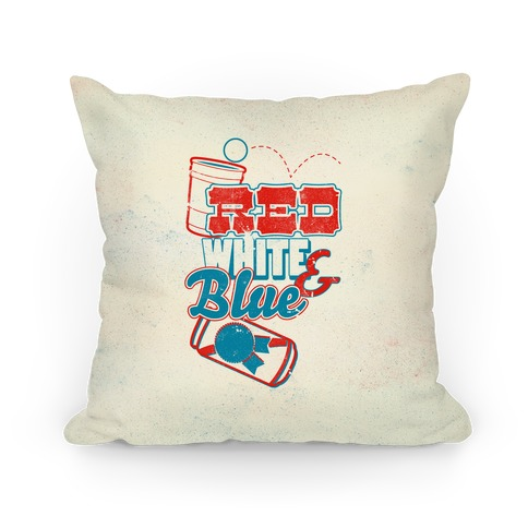Red White and Blue Pillow