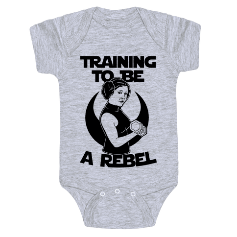 Training To Be A Rebel Baby Onesy