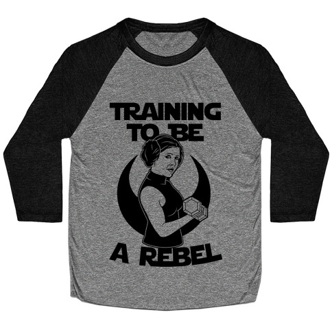 Training To Be A Rebel Baseball Tee