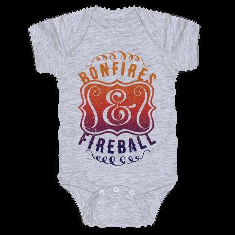 Bonfires And Fireball Baby Onesy