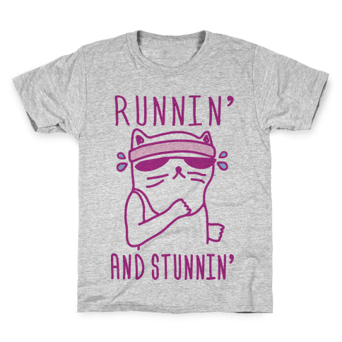 Runnin' And Stunnin' Cat Kids T-Shirt