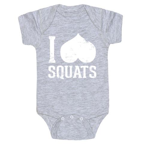 Squats (Dark Tank) Baby Onesy
