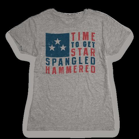 Star Spangled Hammered Womens T-Shirt