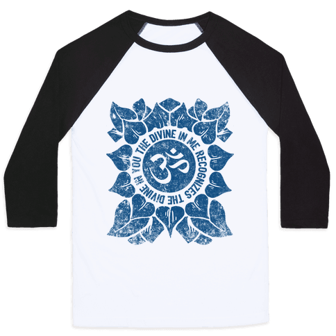 The Divine In Me Recognizes The Divine In You Baseball Tee