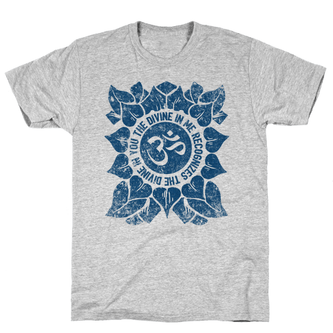 The Divine In Me Recognizes The Divine In You Mens T-Shirt