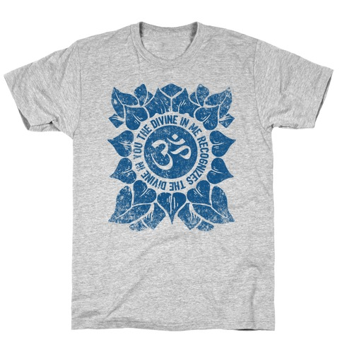 The Divine In Me Recognizes The Divine In You Mens/Unisex T-Shirt