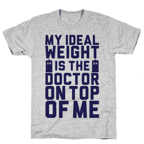 Ideal Weight (Doctor Who) Mens T-Shirt