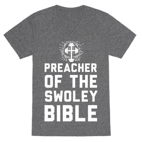Preacher of the Swoley Bible V-Neck Tee Shirt