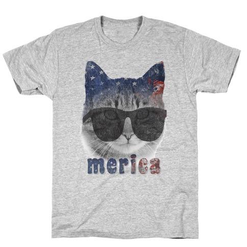 Merica Cat T-Shirt