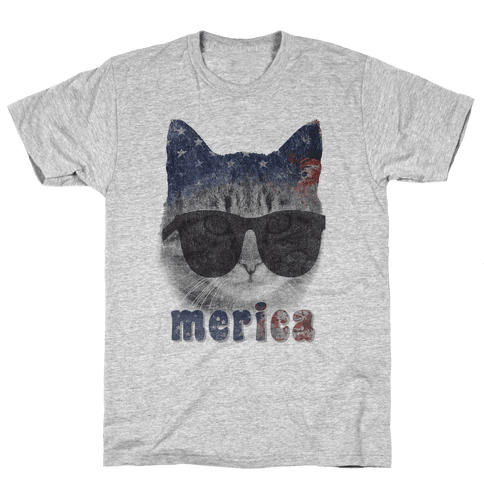 Merica Cat Mens T-Shirt