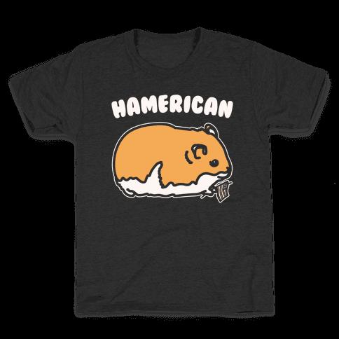 Hamerican Parody White Print Kids T-Shirt