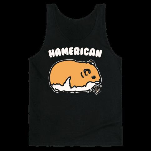 Hamerican Parody White Print Tank Top