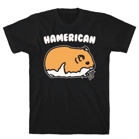 Hamerican Parody White Print Mens T-Shirt