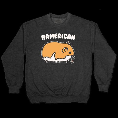 Hamerican Parody White Print Pullover