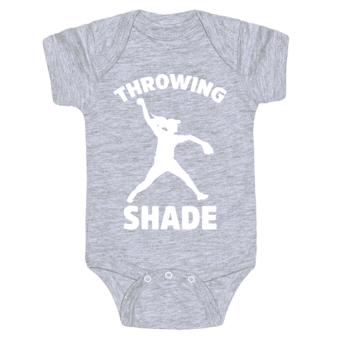 Throwing Shade (Softball) Baby Onesy