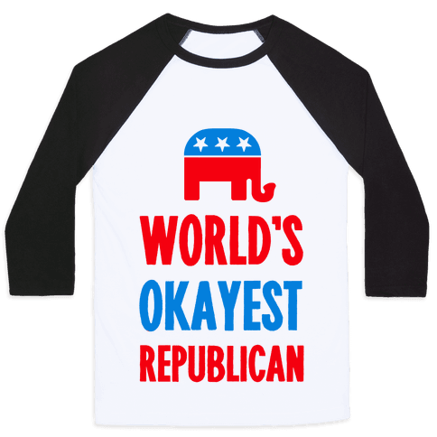 World's Okayest Republican Baseball Tee