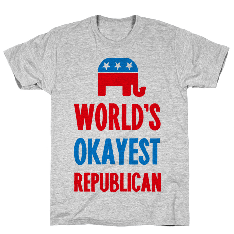 World's Okayest Republican Mens T-Shirt