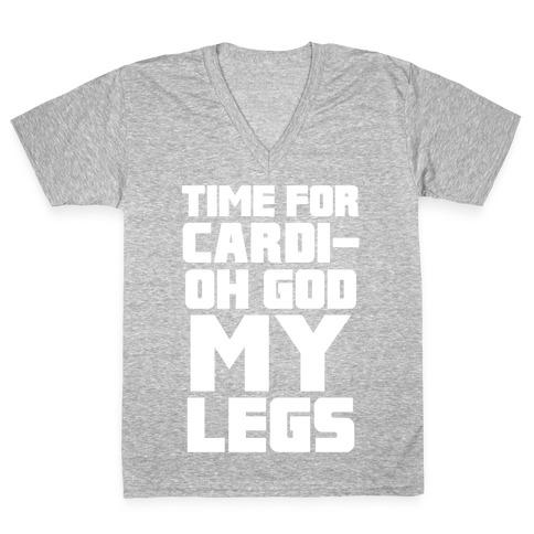 Cardi-OH GOD MY LEGS V-Neck Tee Shirt