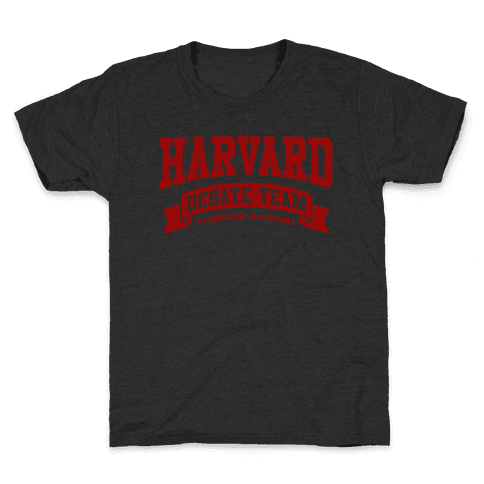 Harvard Debate Team Parody Shirt Kids T-Shirt