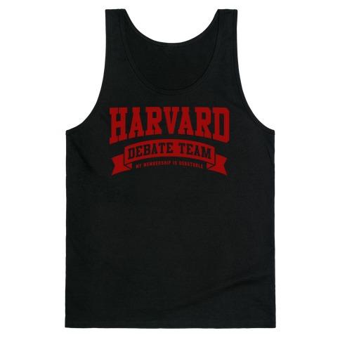 Harvard Debate Team Parody Shirt Tank Top
