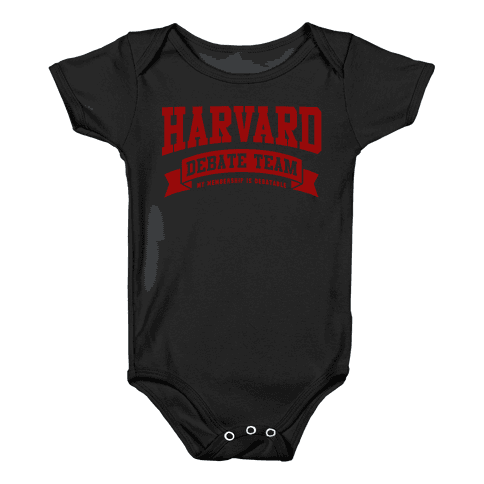 Harvard Debate Team Parody Shirt Baby Onesy