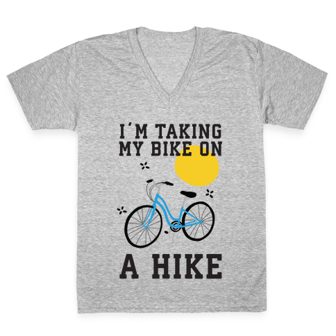 Bike Hike V-Neck Tee Shirt