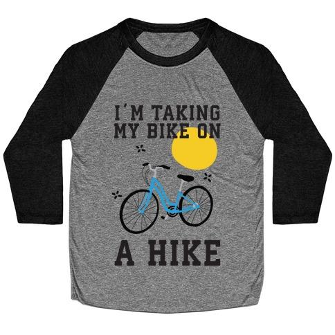 Bike Hike Baseball Tee